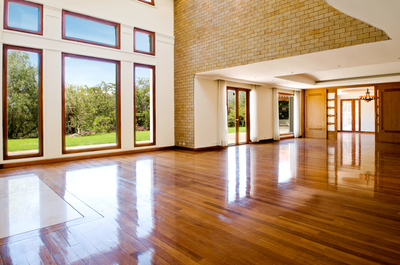 Empty big living room